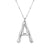 Big Letter Silver Necklace