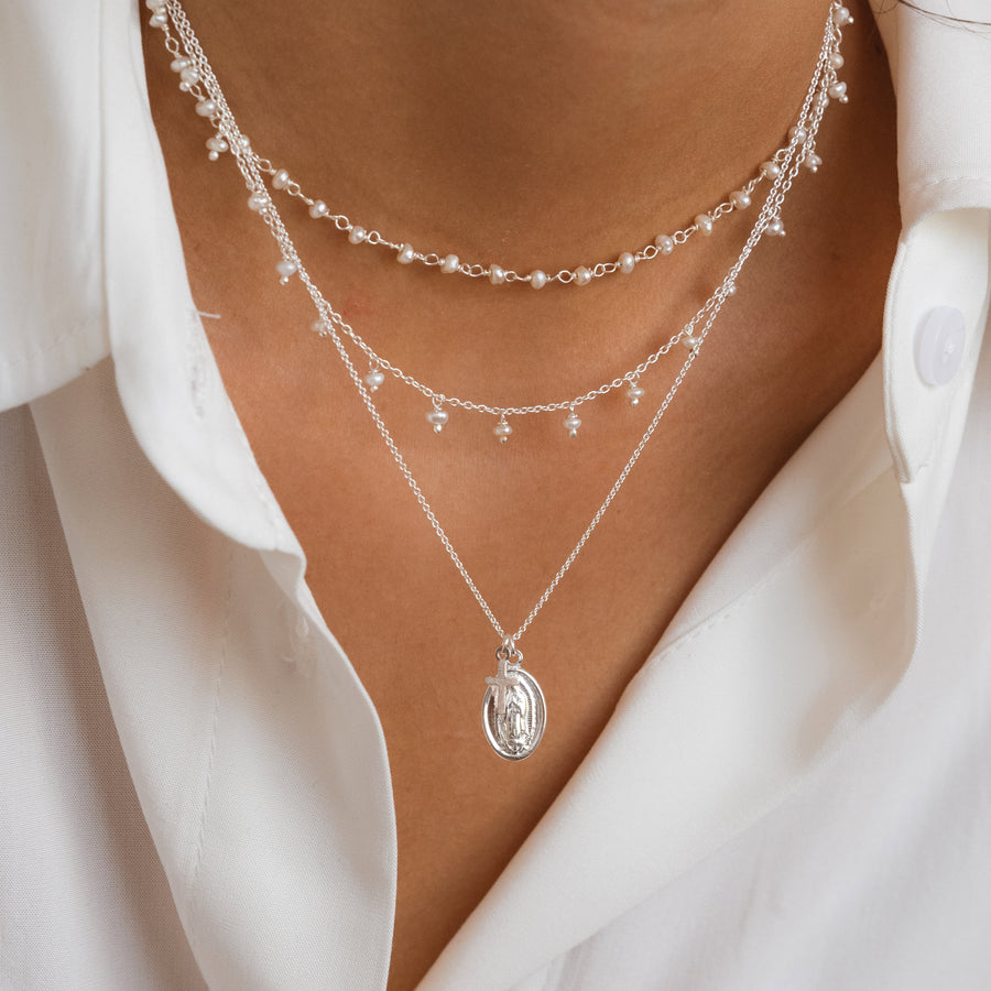 Klein Pearl Silver Necklace