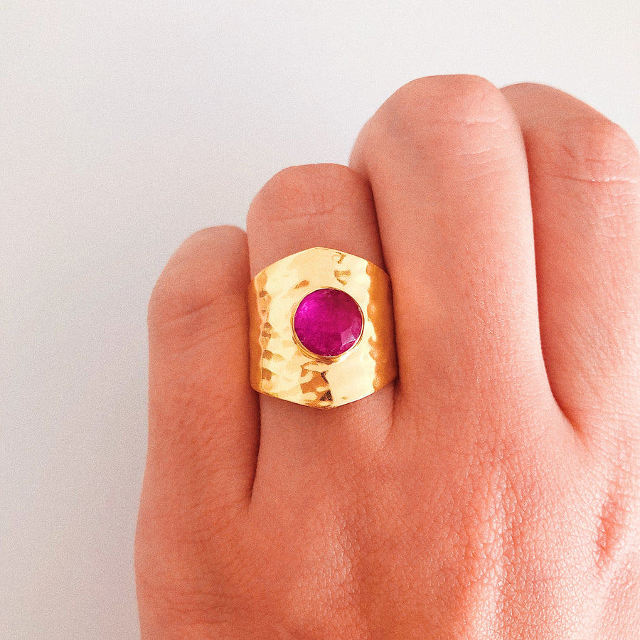 Olivia Pink Gold Ring