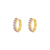 Landa Violet Gold Earrings