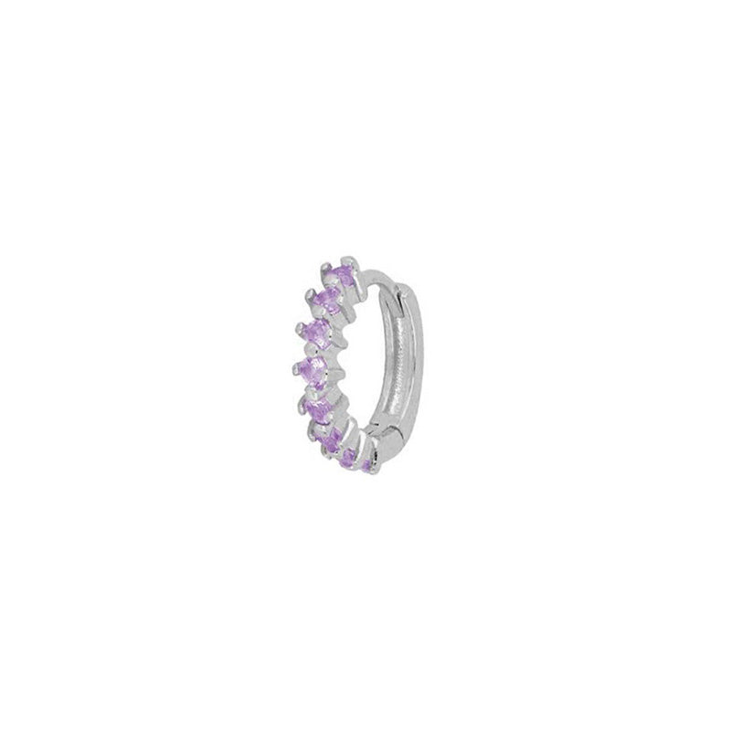 Landa Violet Silver Earrings