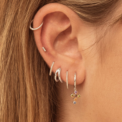 Num Silver Earrings