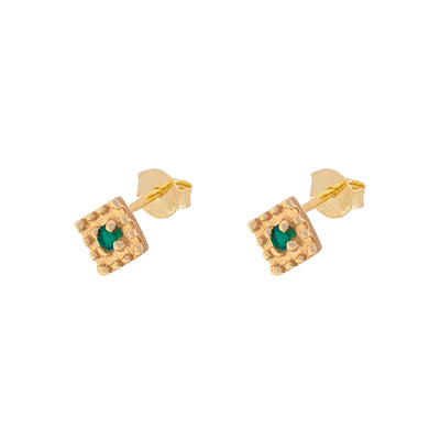 Pendientes Sira Green Gold