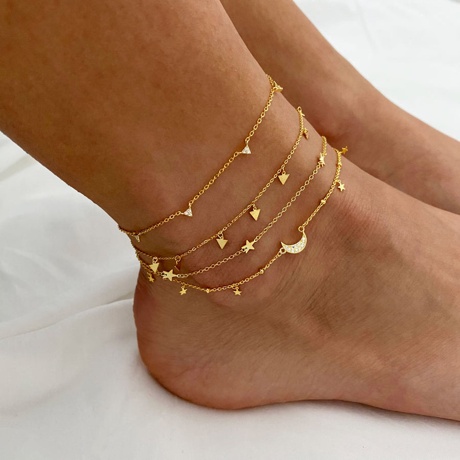 Galaxy Gold Anklet