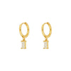 Tame White Gold Earrings