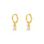 Pendientes Tame White Gold