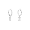 Tame White Silver Earrings