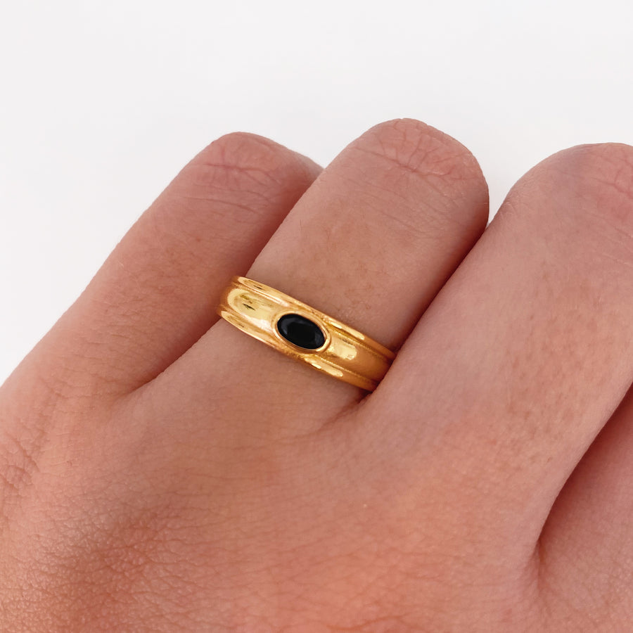 Anillo Gorne Black Gold