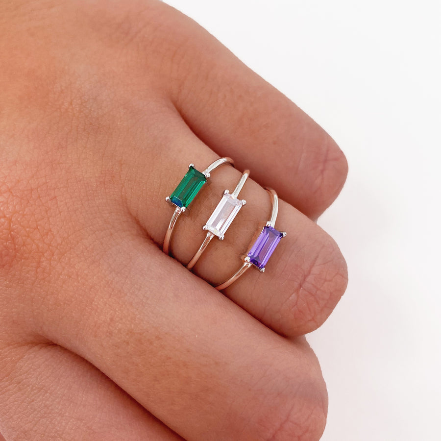 Silver Tame Green Ring