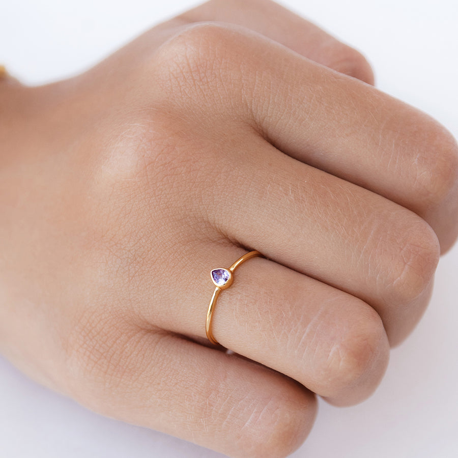 Anillo Dois Violet Gold