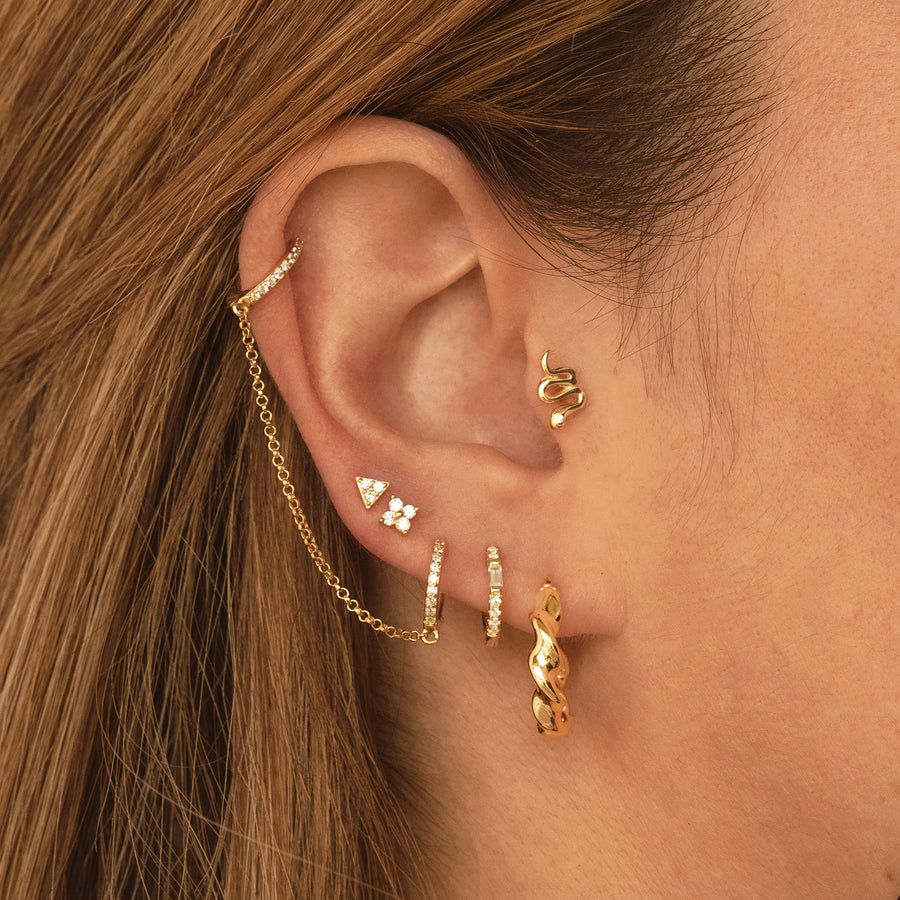 Mini Snake Gold Earring