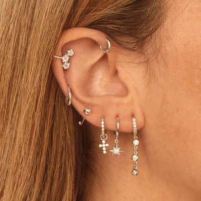 Fall Silver Earring