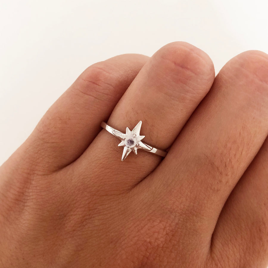 Polar White Silver Ring