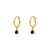Numa Black Gold Earrings