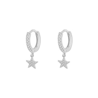 Mons Star Silver Earrings