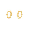 Bone Gold Earrings