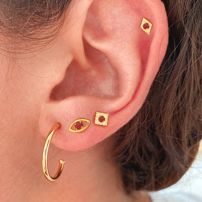 Sira Red Gold Earring