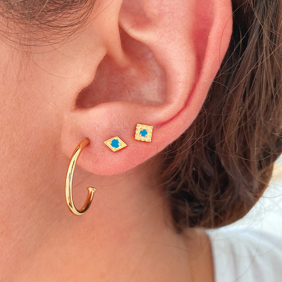 Sira Turquoise Gold Earring