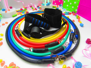 11 Piece Resistance Band Set