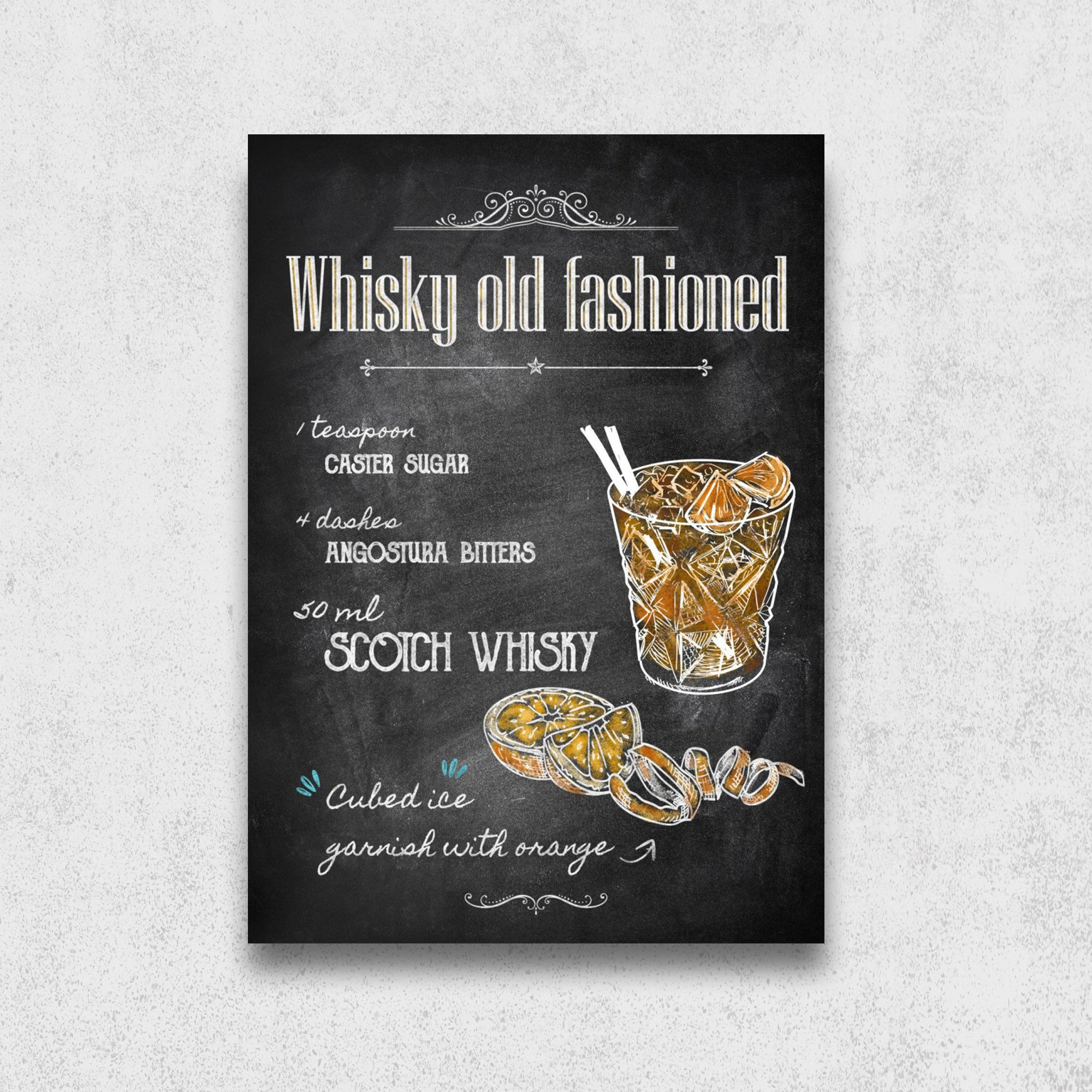 Recette du cocktail Whiskey Old Fashioned