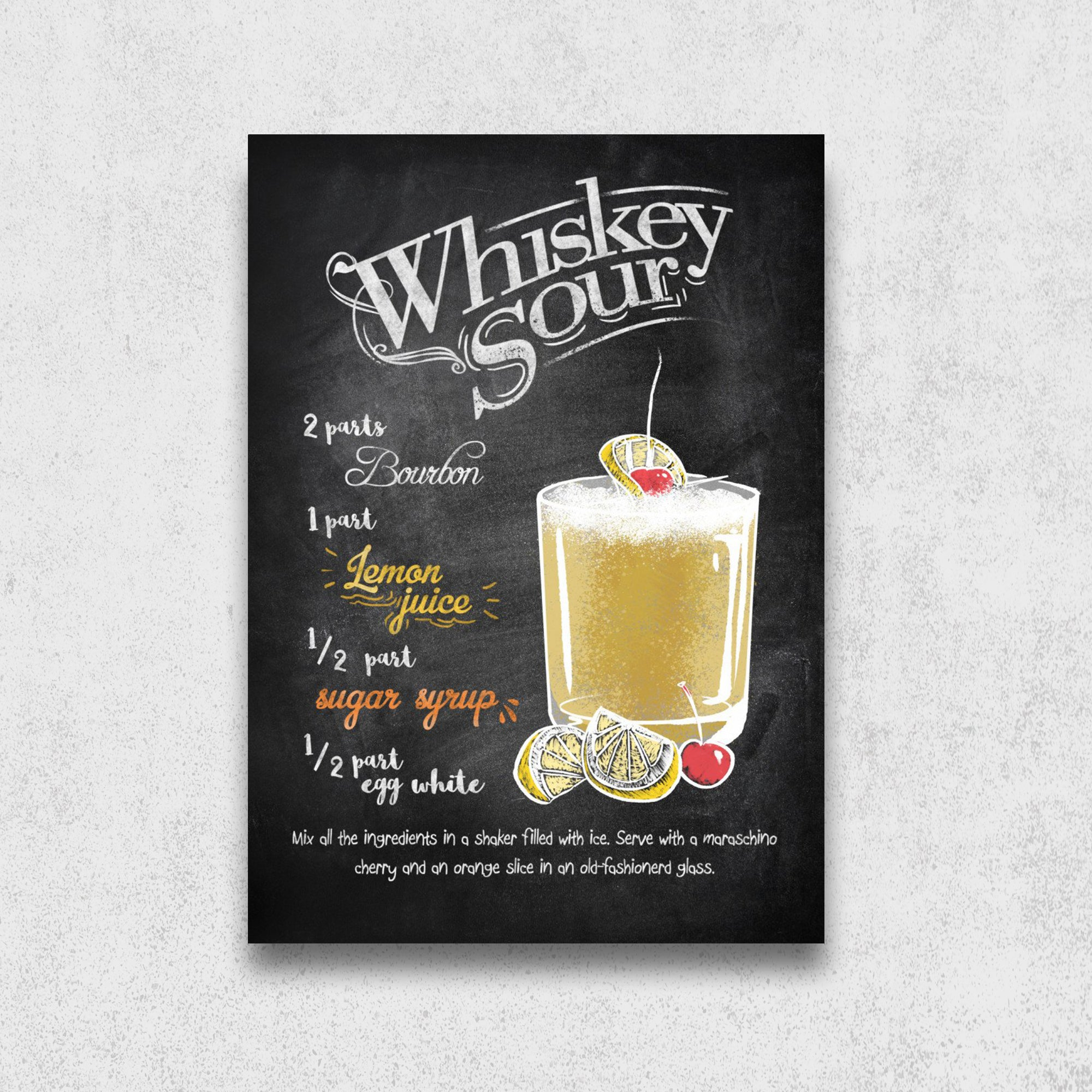 Recette du cocktail Whiskey Sour