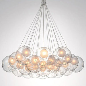 Daytrends 1 Bulb / Glass Ball Dia 15cm Wholesale Nordic Modern LED Double-Deck Glass Ball Pendant Lights G4 Bulb Hall Light 12/15cm Glass ball Pendant Lamp Fixtures