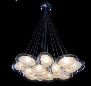 Daytrends 15light Wholesale Modern Led oval egg glass ball Pendant Light 110-240V Clear Glass Led Pendant Light bar dining room light