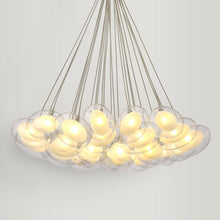 Load image into Gallery viewer, Daytrends 19light Modern Led oval egg glass ball Pendant Light 110-240V Clear Glass Led Pendant Light bar dining room light