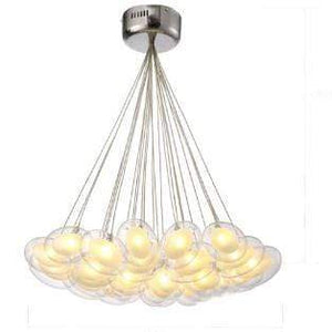 Daytrends 25light Wholesale Modern Led oval egg glass ball Pendant Light 110-240V Clear Glass Led Pendant Light bar dining room light