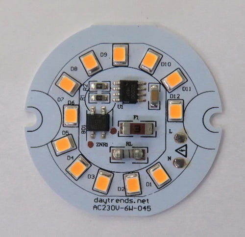 Daytrends LED Components AC LED module DOB Driverless LED Light Engine Dia45mm 6W 3000K