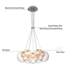 Laden Sie das Bild in den Galerie-Viewer, Daytrends Nordic Modern LED Double-Deck Glass Ball Pendant Lights G4 Bulb Hall Light 12/15cm Glass ball Pendant Lamp Fixtures