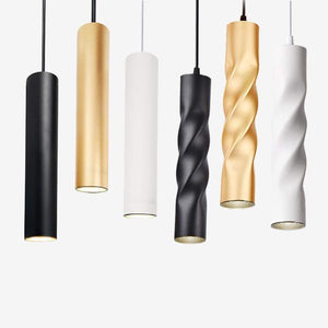 Daytrends Pendant Lamp dimmable Lights Kitchen Island Dining Room Shop Bar Counter Decoration Cylinder Pipe Pendant Lights Kitchen Lights