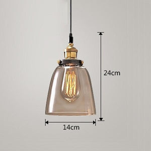 Daytrends Pendant light Amber A / Without bulb Wholesale Vintage Pendant Lights Amber Glass Pendant Lamp E27/E26 Light Bulb Dinning room Kitchen  Home Decor Planetarium Lamp