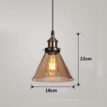 Load image into Gallery viewer, Daytrends Pendant light Amber B / Without bulb Vintage Pendant Lights Amber Glass Pendant Lamp E27/E26 Light Bulb Dinning room Kitchen  Home Decor Planetarium Lamp