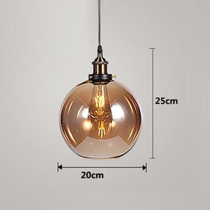Daytrends Pendant light Amber C / Without bulb Wholesale Vintage Pendant Lights Amber Glass Pendant Lamp E27/E26 Light Bulb Dinning room Kitchen  Home Decor Planetarium Lamp