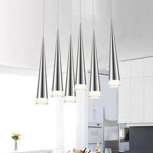 Daytrends Pendant light Black / 5W / Warm White 3000K Customized led Pendant Lights 110-240V 5W Modern led Conical Pendant Lamp Aluminum Lighting dining-room bar Restaurant Lamp