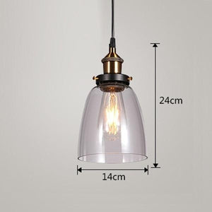 Daytrends Pendant light Clear A / Without bulb Wholesale Vintage Pendant Lights Amber Glass Pendant Lamp E27/E26 Light Bulb Dinning room Kitchen  Home Decor Planetarium Lamp