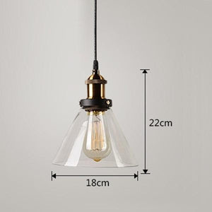Daytrends Pendant light Clear B / Without bulb Wholesale Vintage Pendant Lights Amber Glass Pendant Lamp E27/E26 Light Bulb Dinning room Kitchen  Home Decor Planetarium Lamp