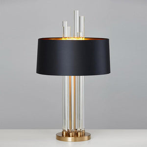 Daytrends Table Lamp copper Wholesale Modern Luxury Light Glass Designer Table Lamp Living Room Bedroom Bedside Fabric Lampshade Home Lighting Fixtrues E27 110-220V