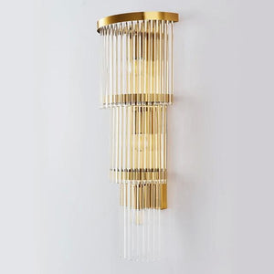 Daytrends wall lamp,sconce Modern Luxury Modern Post Crystal Creative Wall Lamp for Bedroom / Office /Balcony Decorate Home Wall Lighting Fixture