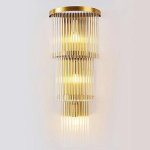 Daytrends wall lamp,sconce Wholesale Modern Luxury Modern Post Crystal Creative Wall Lamp for Bedroom / Office /Balcony Decorate Home Wall Lighting Fixture