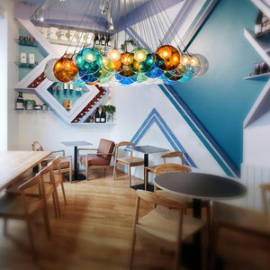 Daytrends wholesale Creative Design Modern LED Colorful Glass Ball Pendant Lights Lamps