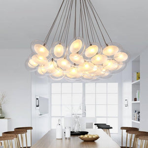 Daytrends Wholesale Modern Led oval egg glass ball Pendant Light 110-240V Clear Glass Led Pendant Light bar dining room light