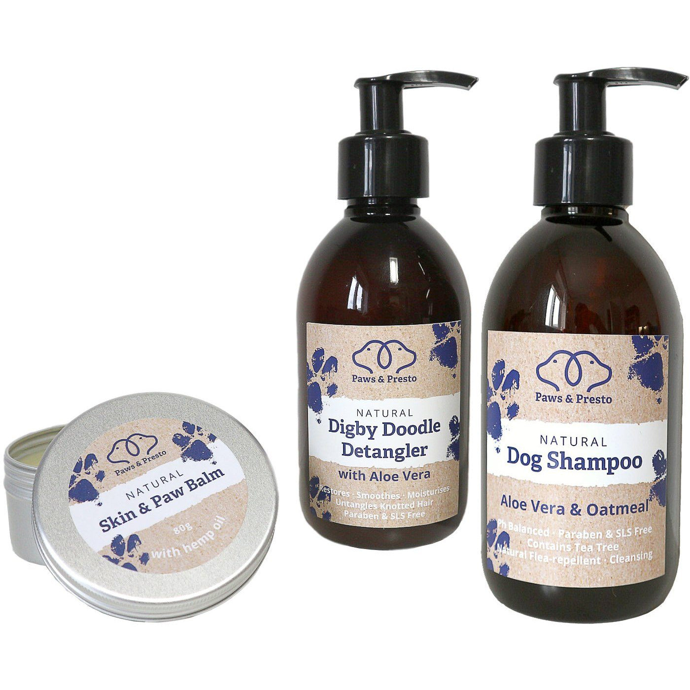 Natural Dog Shampoo For Sensitive Itchy Skin  Paws & Presto 190 Ml