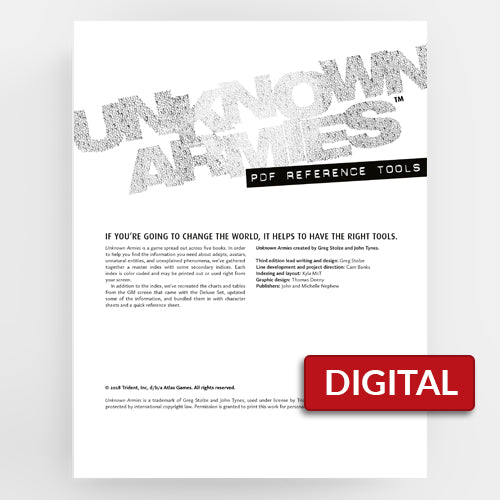 Unknown Armies PDF Reference Companion (Unknown Armies 3E)