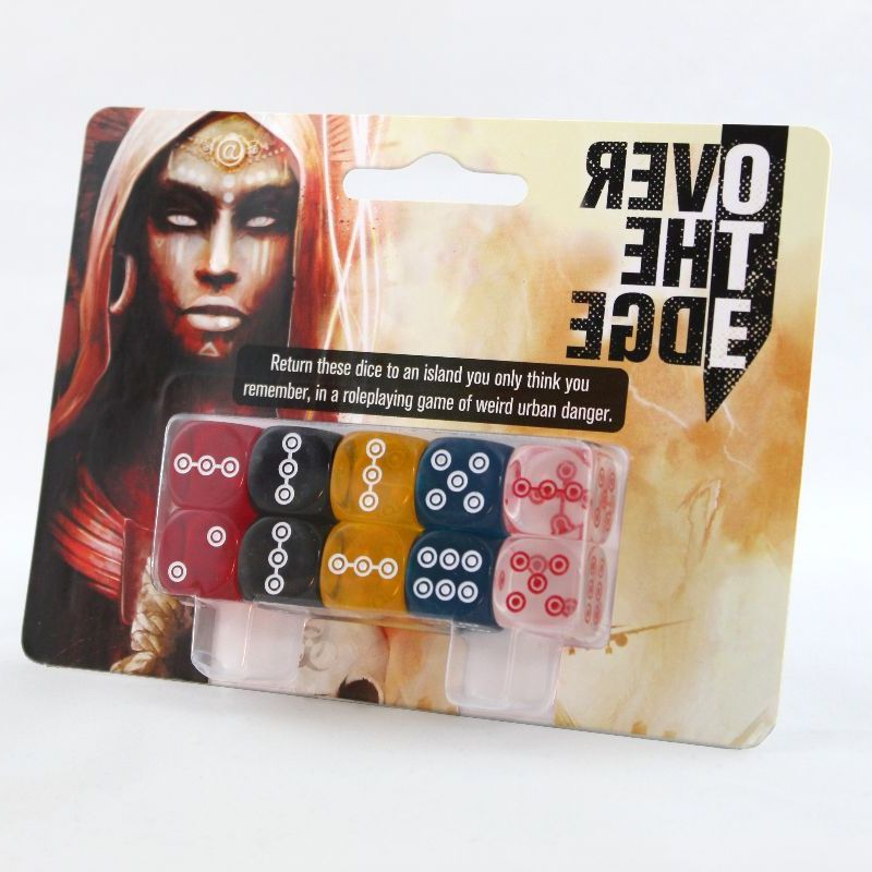 Over the Edge Dice Set (Over the Edge 3E) [Restock]