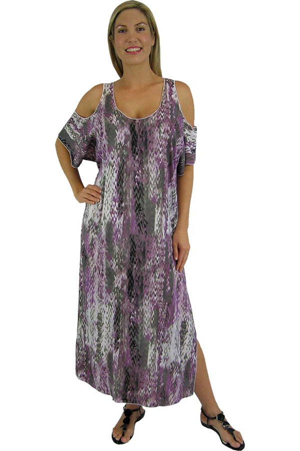 "Bamboo Dress ""Abstract Snake"" print"