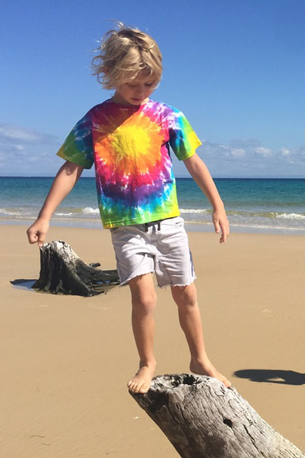 "Kids Unisex Tie Dye T-Shirt ""Circle"""