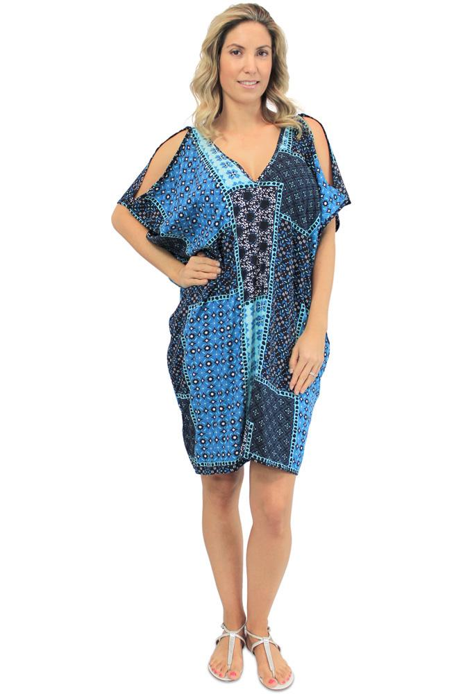 "Drifter Dress "" Patch Batik"" Print"