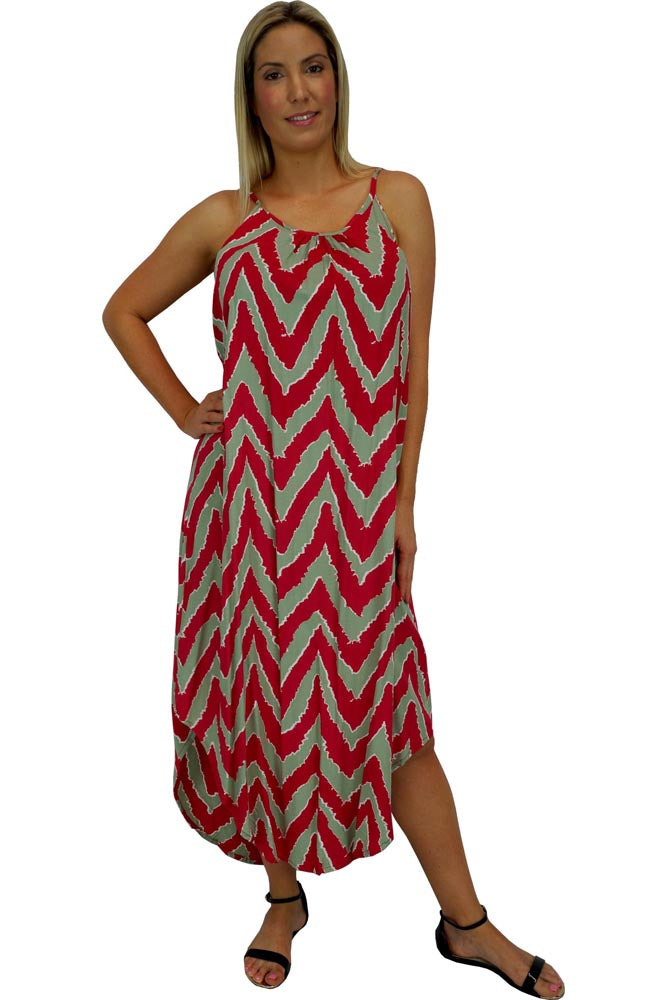 "Flair Dress ""Random Zigzag"" Print"